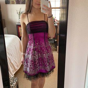 Purple Formal Homecoming dress
